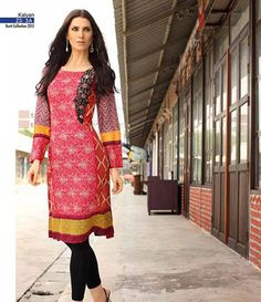 Kalyan embroidered kurtis summer collection 2015 ST-3A