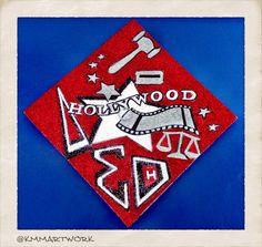 Delta Sigma Theta Graduation Cap - Future Entertainment Lawyer - Glitter Art - #kmmartwork