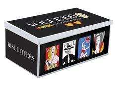 The Vogue100 bespoke biscuit tin, available at the National Portrait Gallery shop!