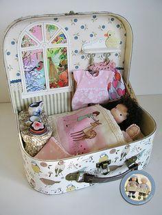 Waldorf dolls Beatka and Bobo - suitcase set by Lalinda.pl…   Flickr