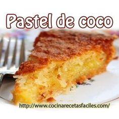 Ingredientes 5 claras de huevo 2 vasos de azúcar 2 vasos de harina 1 vaso de leche de coco Mermelada (melocotón, fresa…) Frutas...