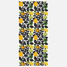 Marimekko  Flowers 55x118 Green Black now featured on Fab.
