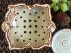 Ceramic Colander Ceramic Berry Bowl Large by MyMothersGarden