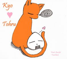 kyo and tohru   Kyo And Tohru by ~Tealchick on deviantART
