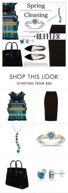 """""""Spring Fashion"""" by applesofgoldjewelry ❤ liked on Polyvore featuring M Missoni, River Island, Yves Saint Laurent, MANGO and Apples of Gold"""