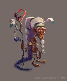 http://ahmedguerrouache.cgsociety.org/art/ahmedguerrouache-photoshop-character-design-old-man-tatoo-tribal-modern-1328806