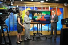 Stephanie Abrams, Mike Bettes and Al Roker on Wake Up With Al in New York City