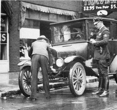 Louisville cop and a model T, 1926