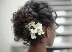 Short Curled Wedding Hairstyle #curls #hairstyle