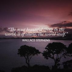 .....................................The world itself