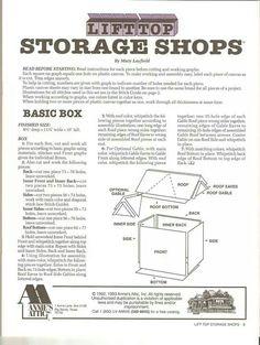 Lift Top Storage Shops