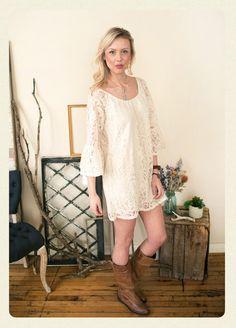 Ivory Intuition Lace Dress   AMaVo Boutique www.amavoboutique.com