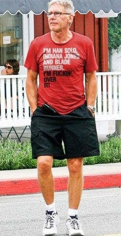 The 40 Best Celebrity t-shirts: Harrison Ford #fashion