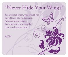Butterflies Never Hide Your Wings Gift Pack. With Original Quote by ACH. Matching set of 4 items. $20.00, via Etsy.