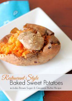 Just like your favorite steak house! Restuarant Style Sweet Baked Potatoes