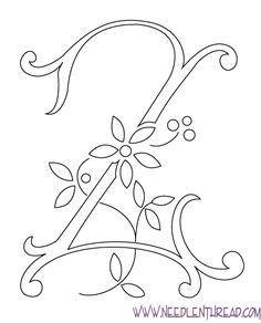Monograma para bordados à mão: The Letter Z