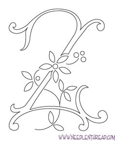 Free Monogram Letters | alphabet, you can visit my Index of Monograms for Hand Embroidery ...