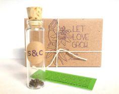 Wedding Favors // Passion Flower Seeds // Set of 10 Eco-Friendly Favors. Bridal Shower Favor with Custom Stamp
