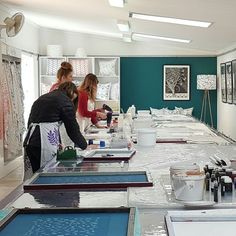 Tea Towel Printing Workshops 2017 Creative Workshop, Small Groups, Tea Towels, Screen Printing, Prints, Furniture, Home Decor, Dish Towels, Decoration Home
