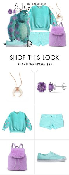 """""""Sulley"""" by leslieakay ❤ liked on Polyvore featuring Jacquie Aiche, Ice, Carmar, Vans, disney, disneybound and disneycharacter"""