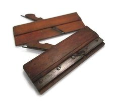 A pair of antique hand crafted molding planes would be perfect for the woodworker or for their collection. The purchase of this listing is for both planes. Wonderful country shop, man cave or historic