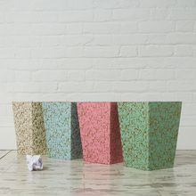 This lovely bin will look very elegant in a corner of your workspace or home. All our beautiful handmade stationery and storage products are produced in an eco-friendly way, from 100% recycled materials.