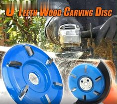 6 Teeth Wood Carving Disc Tired of carving woods by using hand tools? This powerful 6 Teeth Wood Carving Disc is designed to Power Carving Tools, Wood Carving Tools, Woodworking Bench, Woodworking Crafts, Woodworking Projects, Woodworking Organization, Woodworking Quotes, Intarsia Woodworking, Woodworking Basics