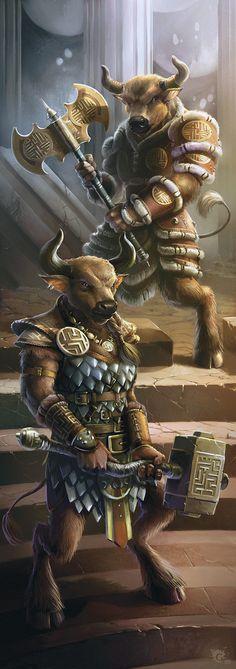 minotaur warriors. Bovine beserkers.