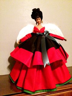 Black Angel Doll Red Black and Green African by DivineAngelShop, $65.00