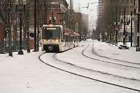 MAX Train in the snow, 2008 Portland  OR