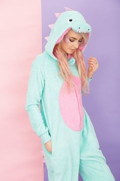 If you're wearing Minty the Dinosaur onesie by Primark, you'd be replacing these with sweet dreams. Pj Onesies, Cute Onesies, Cute Pjs, Cute Pajamas, Pajamas Women, Pijamas Onesie, Pyjamas, Onesie Pajamas, Girl Clothing