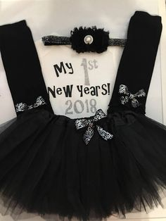 02be89f9a01b Toddler girl 1st New years outfit my first new years outfit Baby New Year,  Shabby