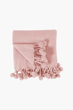 This textured classic throw made with cotton and includes a pom pom trim, will enhance any classic room. Classic Throws, Cotton Throws, Pom Pom Trim, Bed Covers, Bedding Shop, Blankets, Bath, Texture, Fabric