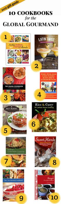 10 Cookbooks for the Global Gourmand - Hippocrene Books. New Cookbooks, Gluten Free Recipes, Gift Guide, Curry, Indian, Reading, Cooking, Health, Sweet