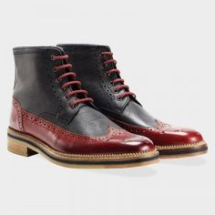 Goodwin Smith Townley Black and Red Men's Boots #menshoes #mensfootwear #mensboots #boots #brogues #fashionblogger #mensblog #fashionblogger