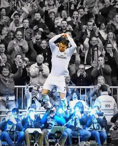 Cristiano Ronaldo Real Madrid Jump Celebration 2014