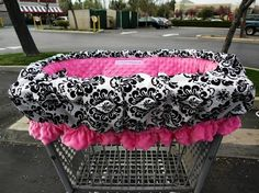 Ruffle Shopping Cart Cover and High Chair Cover. My FAVORITE one. Different pattern material but love the fleece and ruffle.