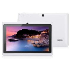 """Egmy 7 Inch Touch Allwinner A33 Quad Core Android 4.4 KitKat Tablet PC, 8GB Multimedia, Dual Camera, G-sensor,WIFI, Multilingual,Multi-touch 1024 x 600 HD Screen(White). 1. 7"""" Capacitive touch Screen,Allwinner A33 Quad Core; RAM:512MB DDR3 ROM:8GB;OS: android 4.4. 2. Feature:Camera, G-sensor,WIFI,Android Market(play store) installed,Multilingual,Multi Touch,Support TF card extend 32GB max. 3. Specification: Type: Tablet PC;Tablet Data Capacity:8GB;Network…"""