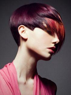 2012 dramatic magenta hair color