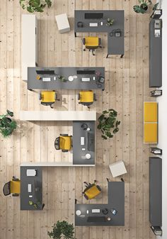 A no-fuss, functional office space where units adapt to meet different work requirements. Office Ideas For Work Business Decor, Law Office Decor, Modern Office Decor, Office Open Plan, Open Office Design, Open Space Office, Corporate Interior Design, Corporate Interiors, Office Interiors