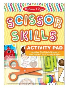 Melissa & Doug Scissor Skills Activity Book (Animal & People Play Set, Pair of Child-Safe Scissors Included, 20 Pages, Great Gift for Girls and Boys - Best for and 7 Year Olds) Cutting Activities, Sequencing Activities, Color Activities, Scissor Skills, Melissa & Doug, Easter Baskets, Educational Toys, Christmas Gifts, Christmas Ideas