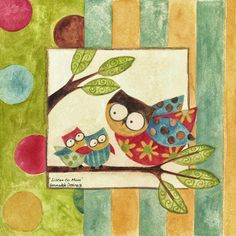Pinzellades al món: Mussols: il·lustracions de Bernadette Deming / Buhos / Owls: Bernadette Deming illustration