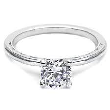 Tacori Milgrain Sculpted Crescent Engagement Ring