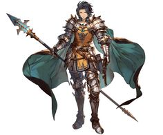 Game Character Design, Fantasy Character Design, Character Concept, Character Art, Granblue Fantasy Characters, Final Fantasy Characters, Anime Warrior, Fantasy Warrior, Fantasy Inspiration