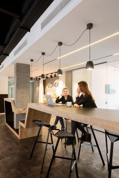Office Tour: L'Oreal Offices – Belgrade - Office Cafeteria - Corporate Office Design, Office Space Design, Modern Office Design, Corporate Interiors, Workspace Design, Office Interior Design, Office Interiors, Office Designs, Commercial Office Design