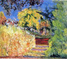 L'Escalier dans le jardin, vers 1942-1944, Le Cannet, Pierre Bonnard.