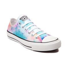 Converse Chuck Taylor All Star Lo Splatter Sneaker, Multi White, at Journeys Shoes. Converse All Star, Converse Chucks, Outfits With Converse, Converse Chuck Taylor All Star, Chuck Taylor Sneakers, Colored Converse, Jean Outfits, Chuck Taylors, Cute Shoes