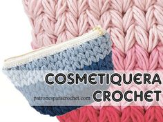 Patrones de cosmetiquera crochet / Paso a paso Crochet Stitches Patterns, Stitch Patterns, Crochet Granny, Crochet Hats, Merino Wool Blanket, Tapestry, Tops, Fashion, Crochet Coat