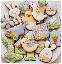 Beautiful Easter Iced Cookies