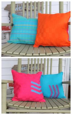 Creative DIY Home Decor on a Budget ... DIY Reversible Placemat Pillows by The Country Chic Cottage